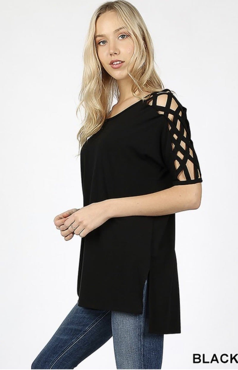 Lattice Top - 2 Colors
