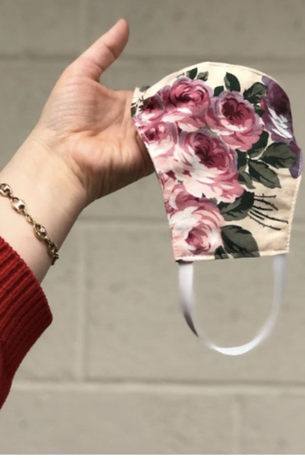 Floral Washable Mask - Trophy Wife Boutique