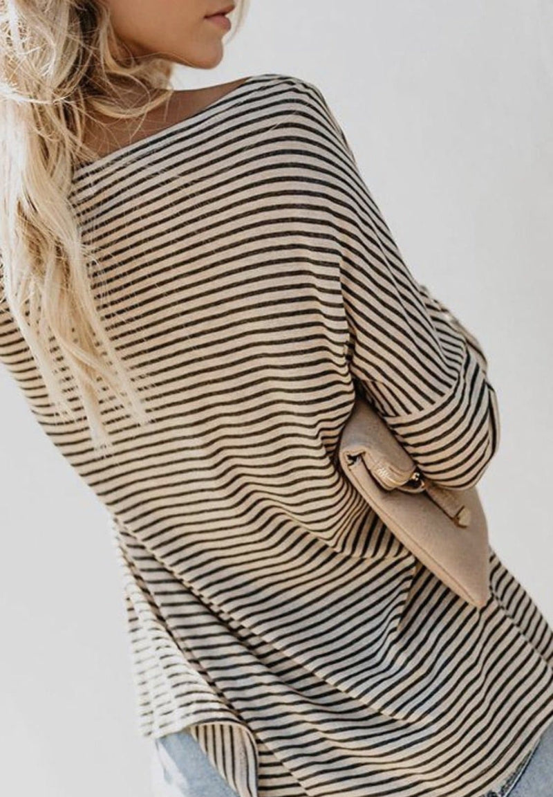 Grace Striped Top - Trophy Wife Boutique