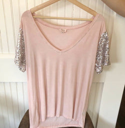 Sarah Sequin Tee - Trophy Wife Boutique