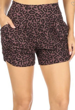 Cheetah Harem Shorts
