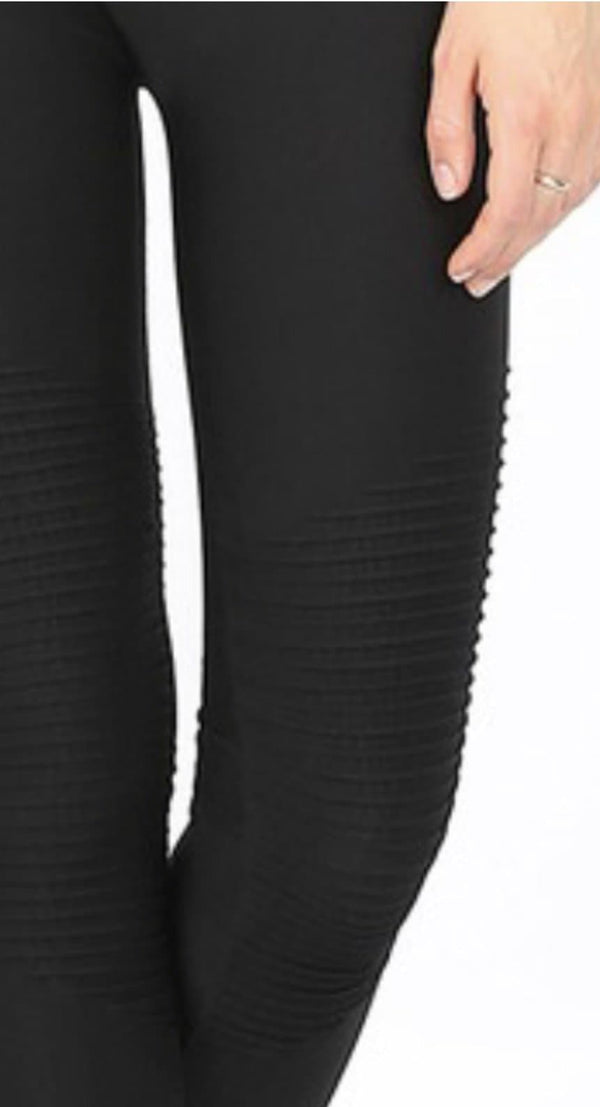 Black Moto Seamless Leggings - Trophy Wife Boutique
