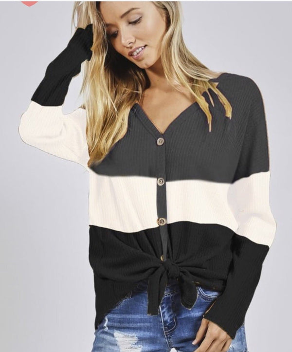 It Girl Color Block Top - Trophy Wife Boutique