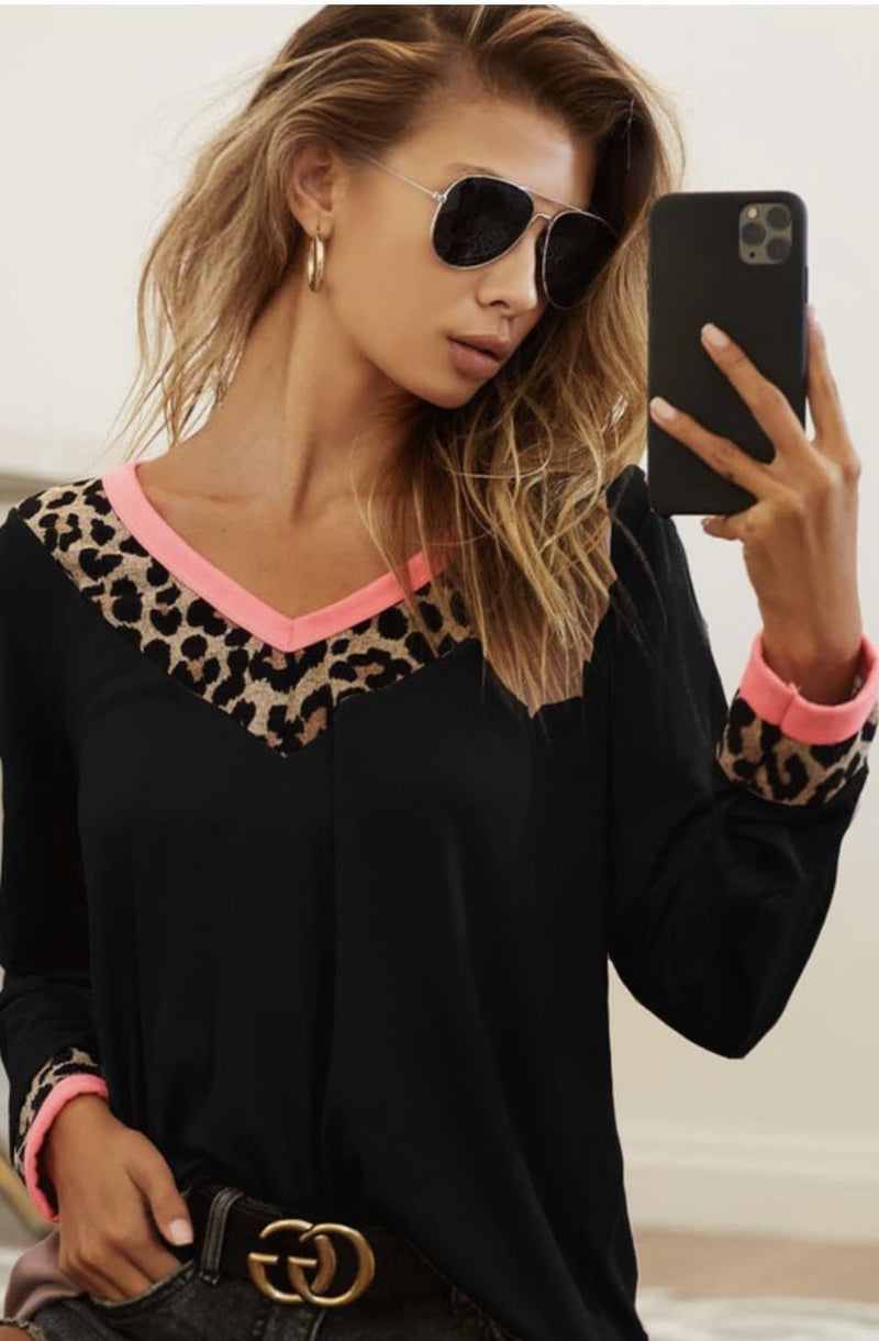 Kiley Leopard Top