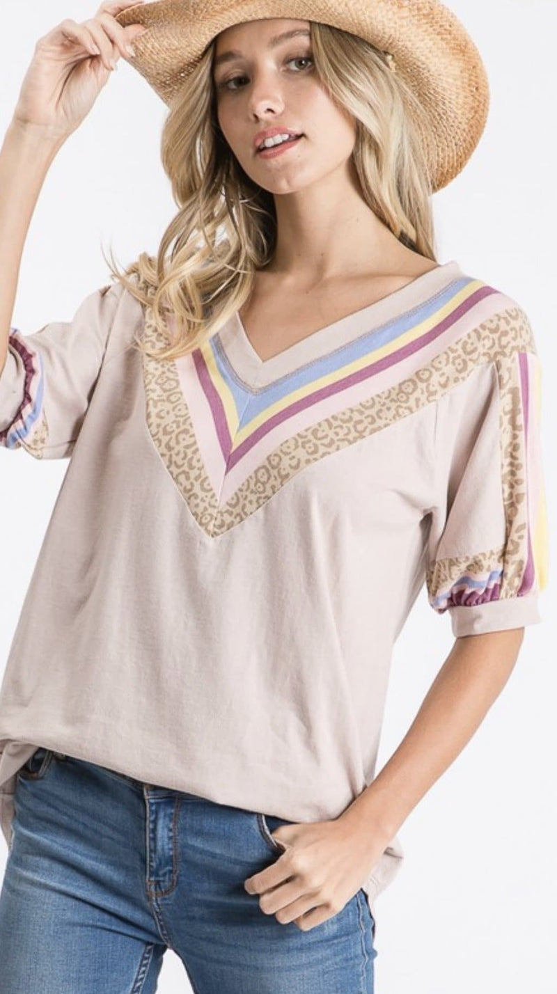 Blush Striped Brunch Top - Trophy Wife Boutique
