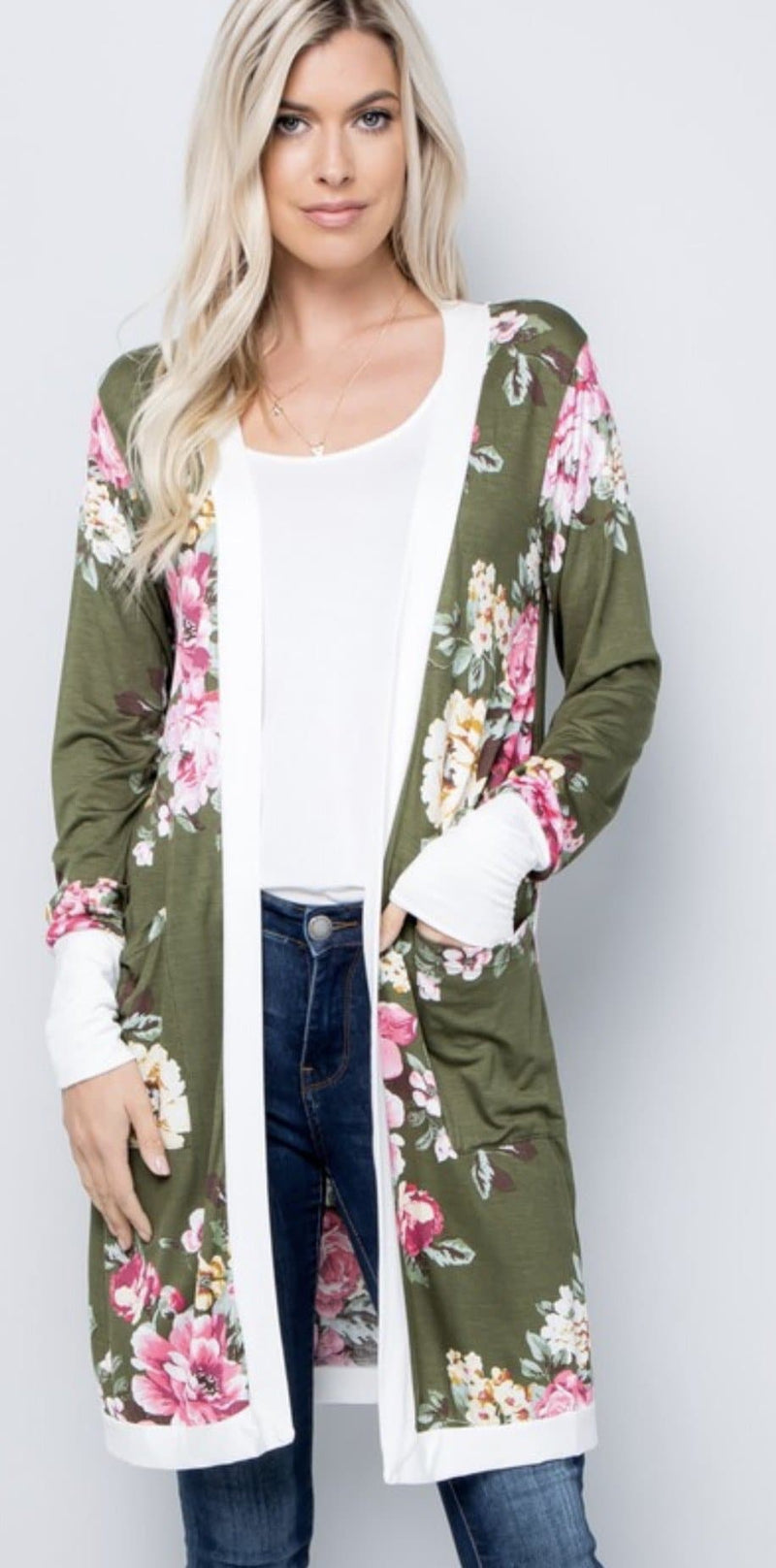 Hailey Olive Floral Set - Trophy Wife Boutique