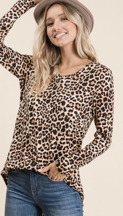 Wild Leopard Top - Trophy Wife Boutique