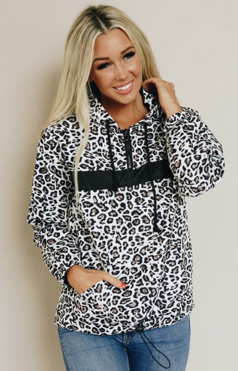 Snow Leopard Pullover Hoodie