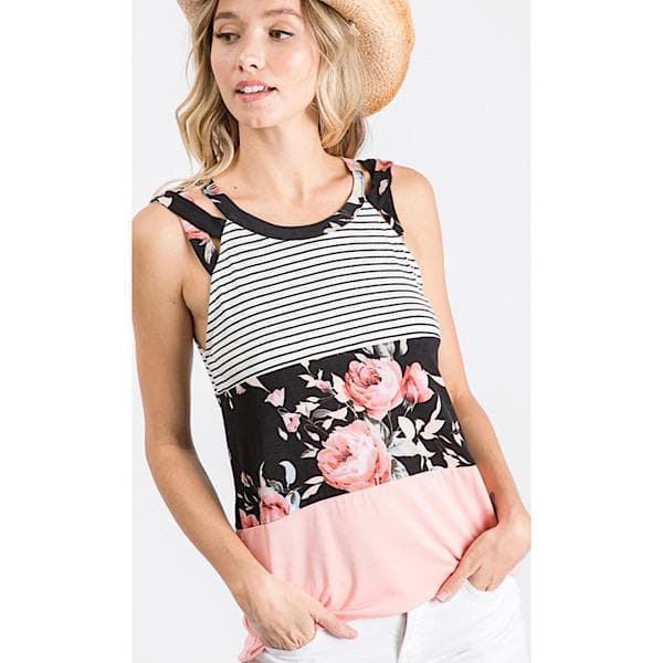 Mandy Colorblock Tank