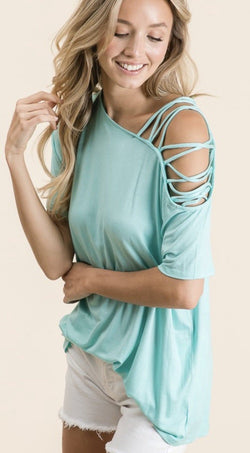 Caitlyn Strappy Shoulder Top