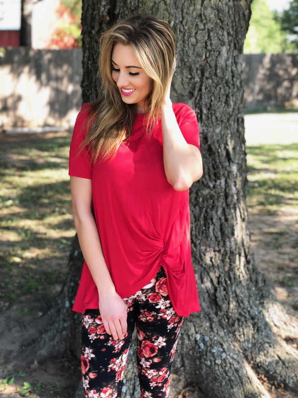 Cherry Knot Top - Trophy Wife Boutique