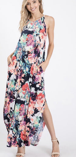 Midnight Meadows Maxi Dress