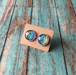 Rainbow Leopard Earrings