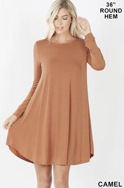 Angie Camel Dress