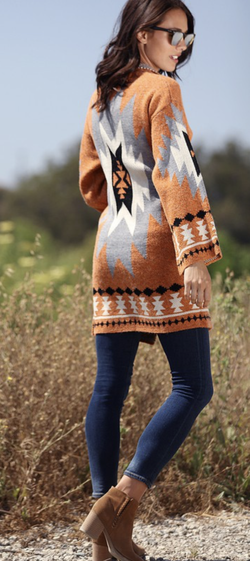 All Who Wander Aztec Cardigan