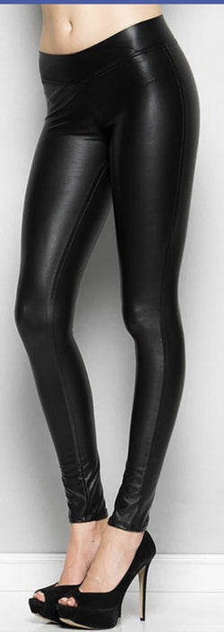 Faux Leather Leggings - Trophy Wife Boutique