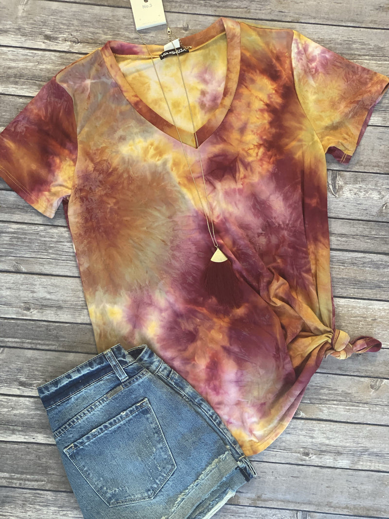 Changing Leaves Tie Dye Tee
