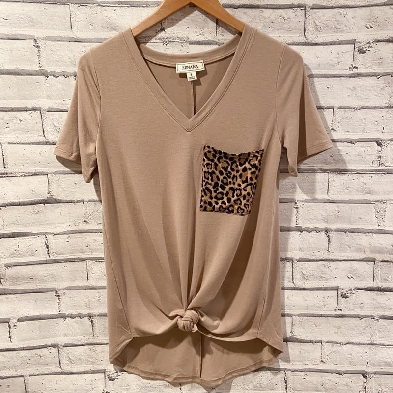 Leopard Pocket Tee - Trophy Wife Boutique