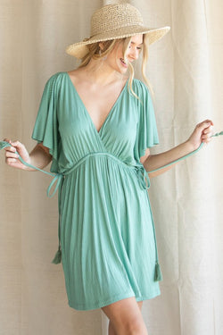 Island Breeze Dress Sage