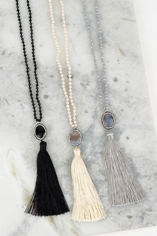 Bejewled Tassel Necklaces - Trophy Wife Boutique