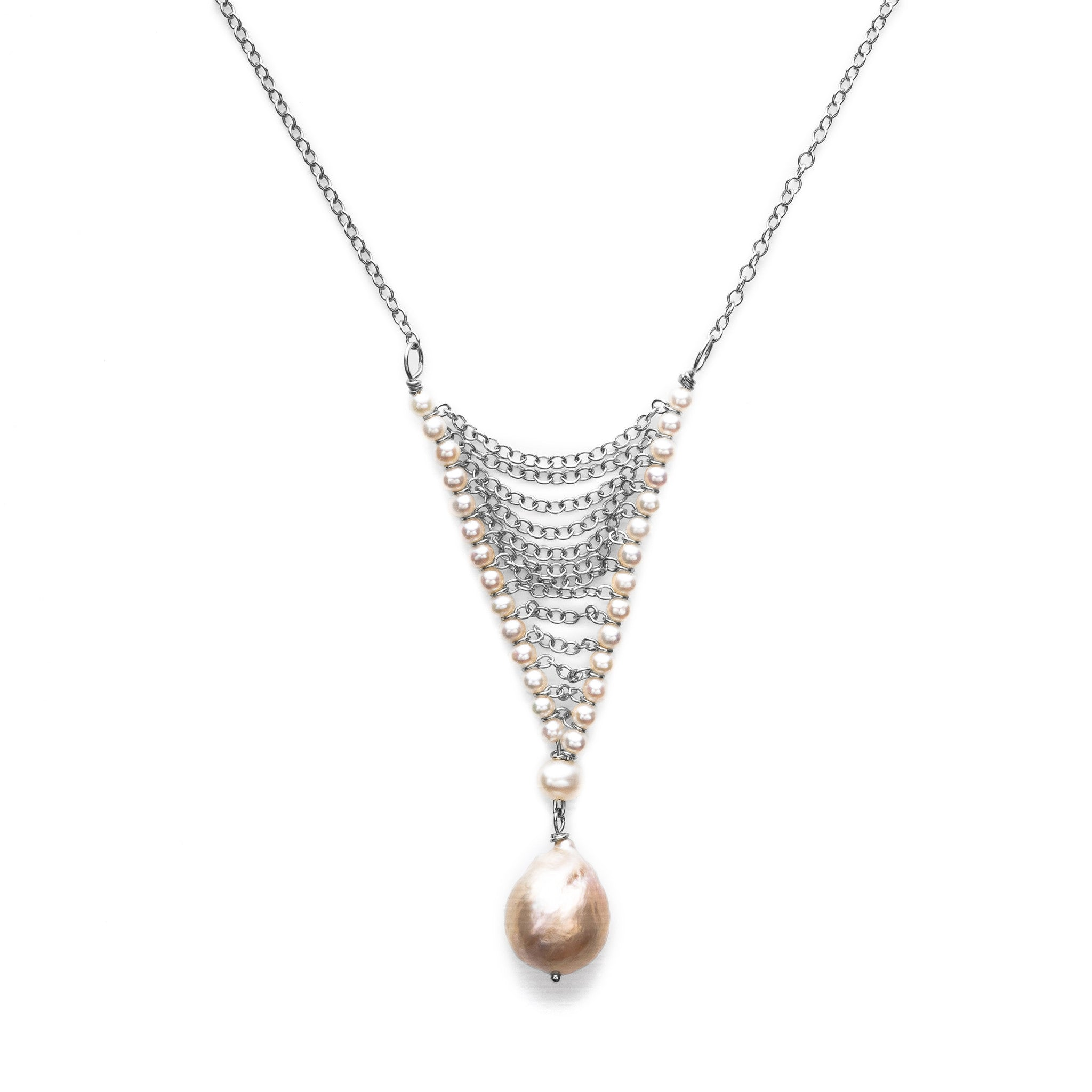 diamonds with bib necklace mesh
