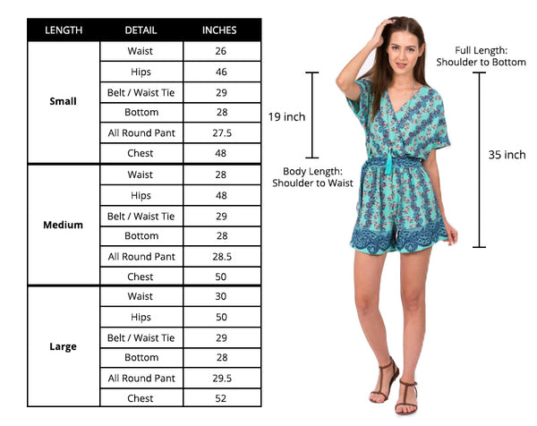 Playsuit size guide