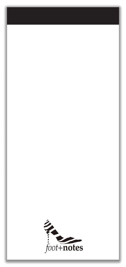 Footnotes Notepad Black (4x9)