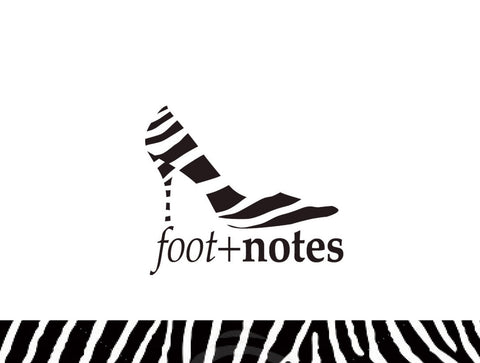 Footnotes Notecard Zebra