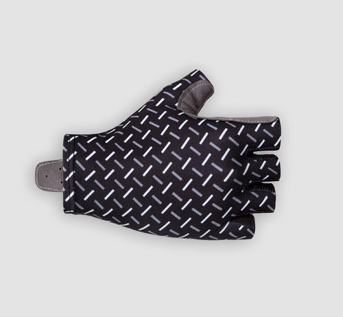 Geometric Gloves Black