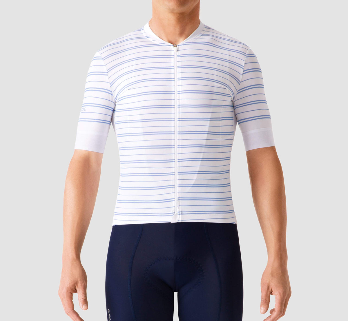 Ultimate Jersey Stripes White/Hortensia