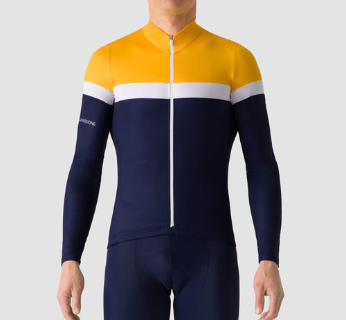Livery Long Sleeve Jersey Yellow/Blue