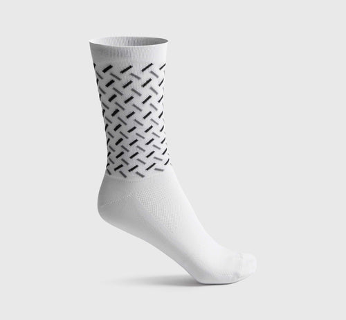 Geometric Socks White