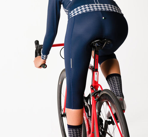 Classic 3/4 Thermal Bib Shorts Blue Woman