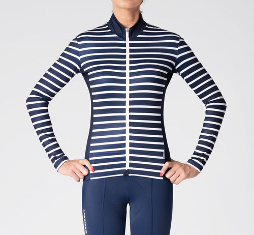 Stripes Long Sleeve Jersey Blue/White Woman