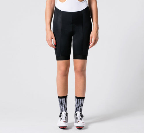Summer Bib Shorts Black Woman