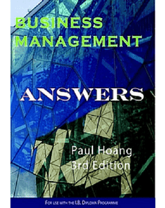 Business Management Answer Book for 3rd Edition (PDF) - IBSOURCE