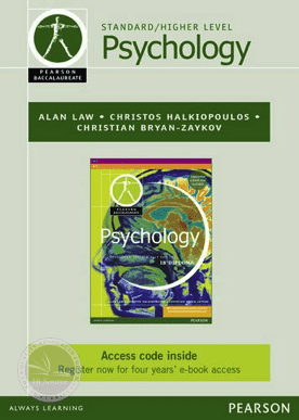 Pearson Baccalaureate: Psychology (eText only edition) -Pearson Education IBSOURCE