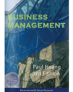 9781921917240, Business Management 3rd Edition (2014) Out of Print - See 9781921917905 - IBSOURCE