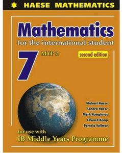 Mathematics or the International Student 7 (MYP 2) second edition - IBSOURCE