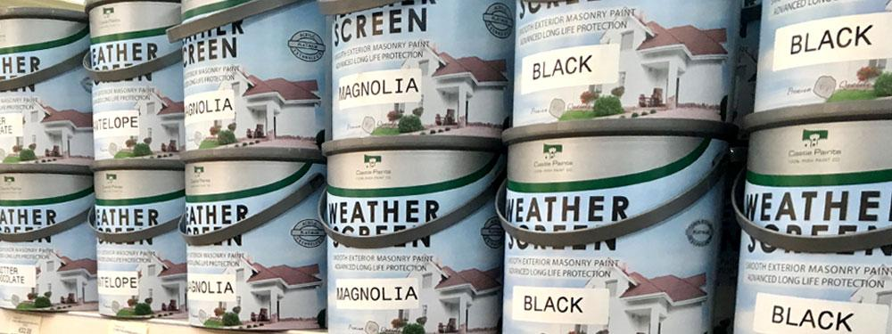 Image of Weather Screen Paint Cans