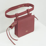 Carre Belt Bag Milky Burgundy