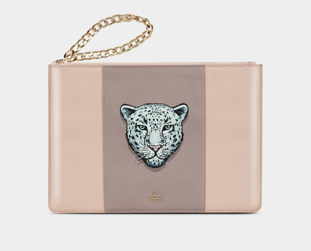 Dada Big Clutch Pink Leopard