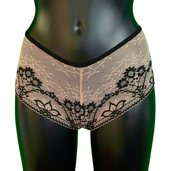 Jacquard Lace Classic Fit Knicker - Art Deco