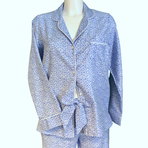 Classically Tailored 'Boyfriend' Pyjama - Blue Weave