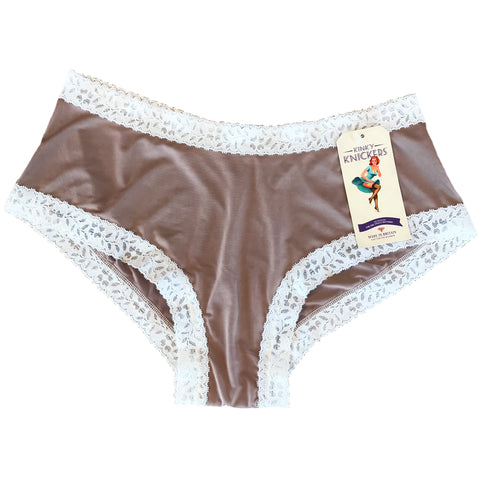 Kinky Knickers Butter Soft Classic Knicker - Latte