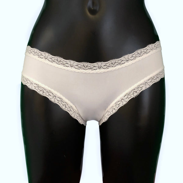 Soft Touch Cheeky Fit Brief - Ivory & Ivory