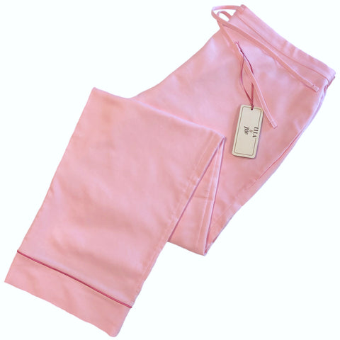 Peached Satin Cotton Pyjama Trouser - Petal