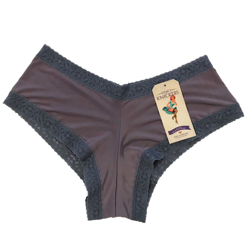 Kinky Knickers Butter Soft Brazilian Cut Knicker - Slate