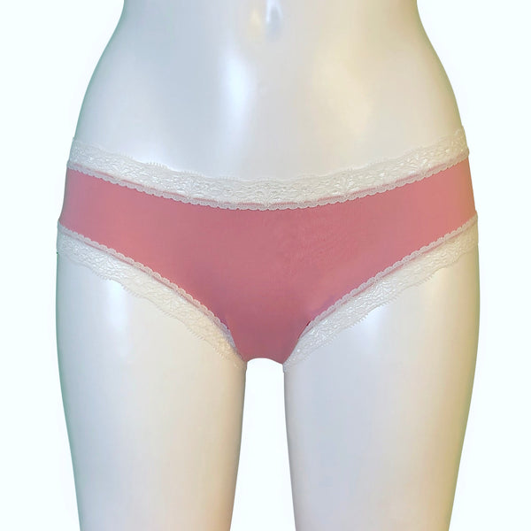 Soft Touch Cheeky Fit Brief - Vintage Pink & Ivory