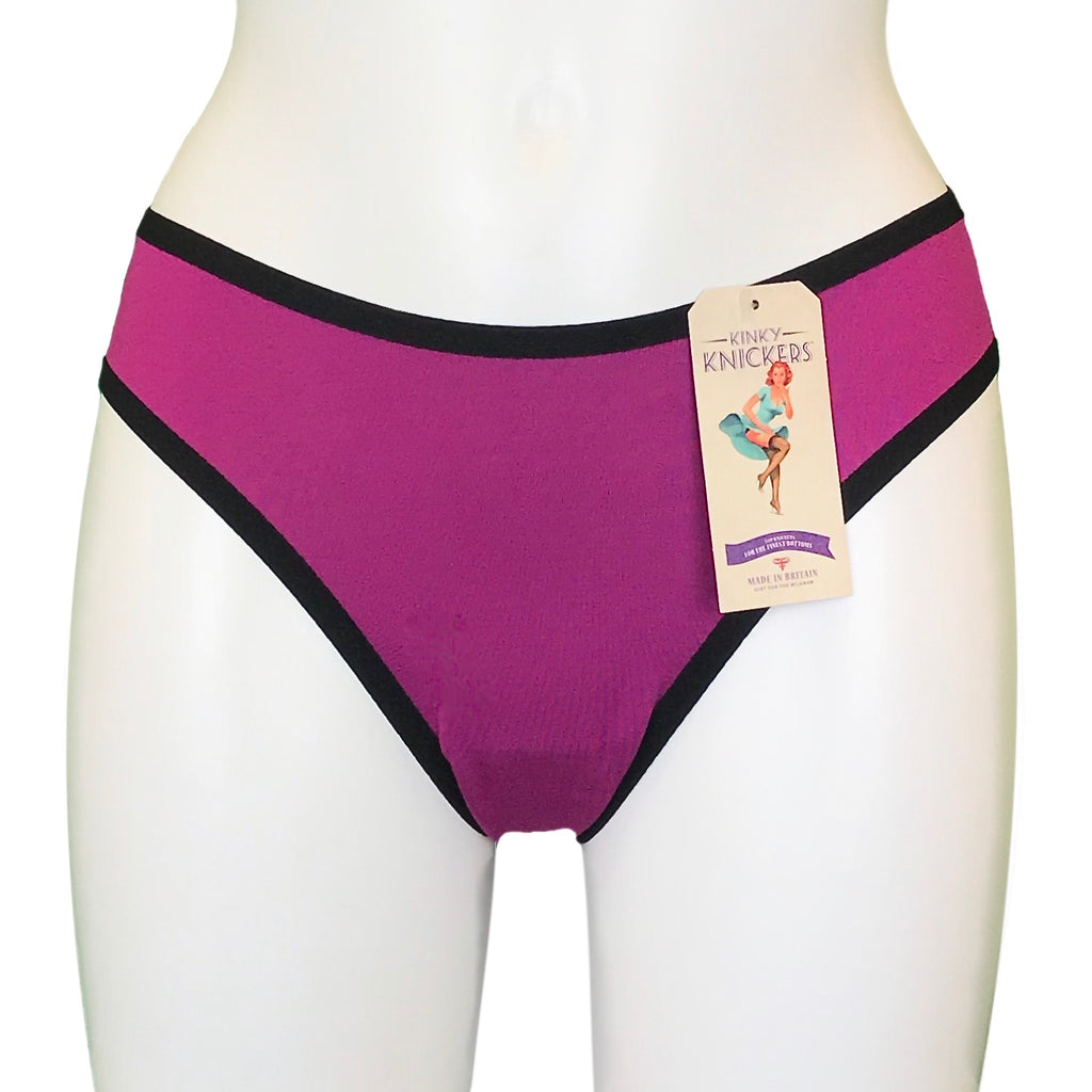 Bamboo Soft Knit Jersey Brief - Hibiscus